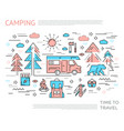 camping horizontal concept vector image