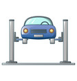 car up in service icon cartoon style vector image