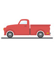 cargo van car transport pick-up auto icon vector image