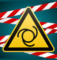 caution - danger automatic start of equipment vector image vector image