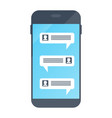 chat in smartphone virtual chat online vector image
