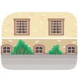 city street buildings view with green trees modern vector image vector image