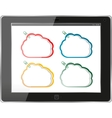 Cloud-computing connection on the digital tablet vector image