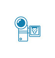 compact video camera linear icon concept compact vector image vector image