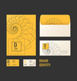 corporate identity the layout templates for your vector image vector image