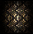 decorative black and gold background vector image vector image