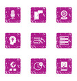 dial icons set grunge style vector image vector image