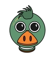 duck animal farm isolated icon vector image vector image