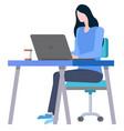 employee woman brainstorming business idea vector image vector image