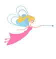 Fairy with a magic wand flying vector image vector image