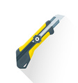 flat construction stationary knife icon vector image