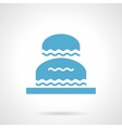 Flowing fountain glyph style icon vector image vector image