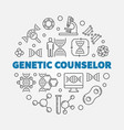 genetic counselor round in vector image