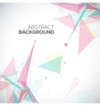 geometric background with polygonal abstract vector image vector image