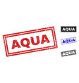 grunge aqua scratched rectangle watermarks vector image vector image