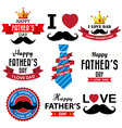 Happy fathers day vintage retro type font eps10 vector image