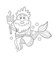 horoscope zodiac sign - aquarius cartoon poseidon vector image
