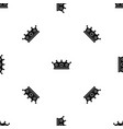 jewelry crown pattern seamless black vector image vector image