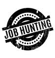job hunting rubber stamp vector image vector image