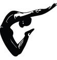 jumping man abstract lines drawing vector image vector image