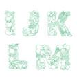 letters i j k l m pattern logo farm fresh vector image