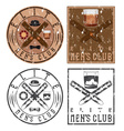 mens club vintage grunge labels with cigars and vector image