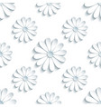 modern seamless pattern with 3d white chamomile vector image vector image