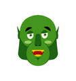 ogre happy emoji goblin merry emotion isolated vector image vector image