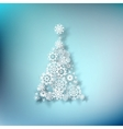 Paper christmass tree on blue EPS 10 vector image vector image