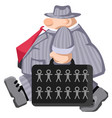 people carry suitcase vector image