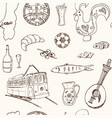 portugal isolated elements and symbols hand drawn vector image vector image