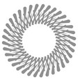 radial circular style geometric design element vector image