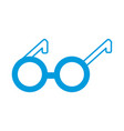 round eyeglasses old fashion trendy style vector image