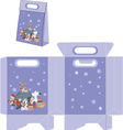 Santa Claus and his helpers Handbags packages vector image vector image