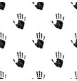 seamless pattern with human palm on white vector image vector image