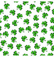 seamless texture of clover leaves st patrick s vector image vector image