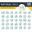 set line icons natural oils vector image