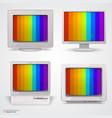 set of retro computers vector image vector image