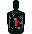 Shooting Range Silhouette Target vector image