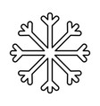 snowflake decoration merry christmas line style vector image vector image