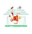 Soccer player character vector image vector image