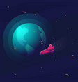 space realistic background with astronaut vector image
