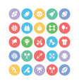 Sports Colored Icons 1 vector image vector image