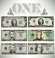 stylized drawings of bills vector image