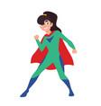 superhero superkid or supergirl cute girl vector image vector image