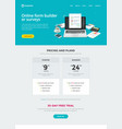 survey form builder web site template design or vector image