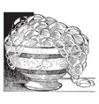 this design have bowl vintage engraving vector image vector image