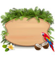 tropics wooden board vector image vector image