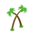 Two palm trees icon isometric 3d style vector image vector image