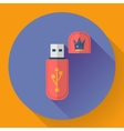 Usb flash drive web icon vector image